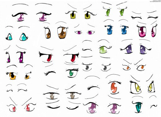 520x378 Basic Manga Drawing 1 Anime Eyes Feltmagnet