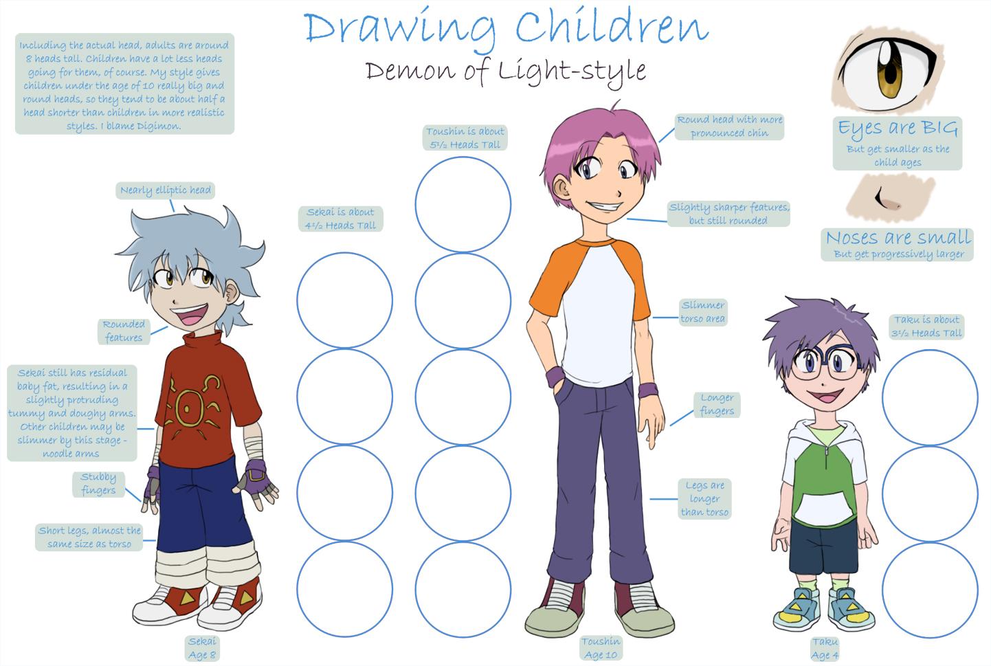 1442x969 Drawing Children Tutorial By Demonoflight