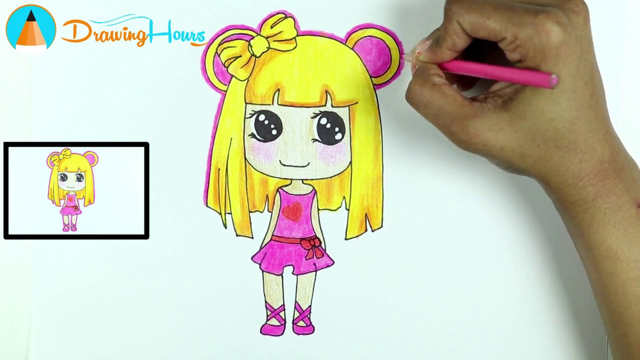 1280x720 How To Draw Anime Manga Girl For Kids By Drawinghours