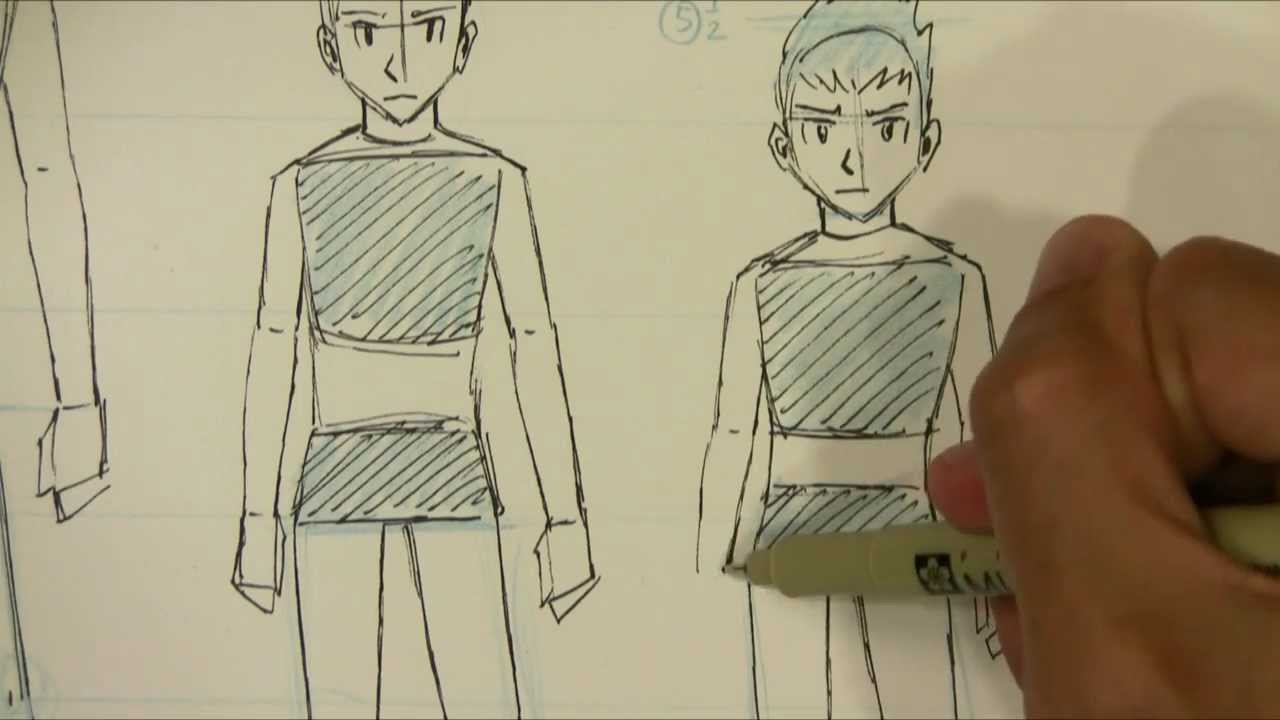 1280x720 How To Draw Manga Male Body Proportions