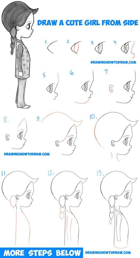 474x870 How To Draw A Cute Chibi Manga Anime Girl From The Side View