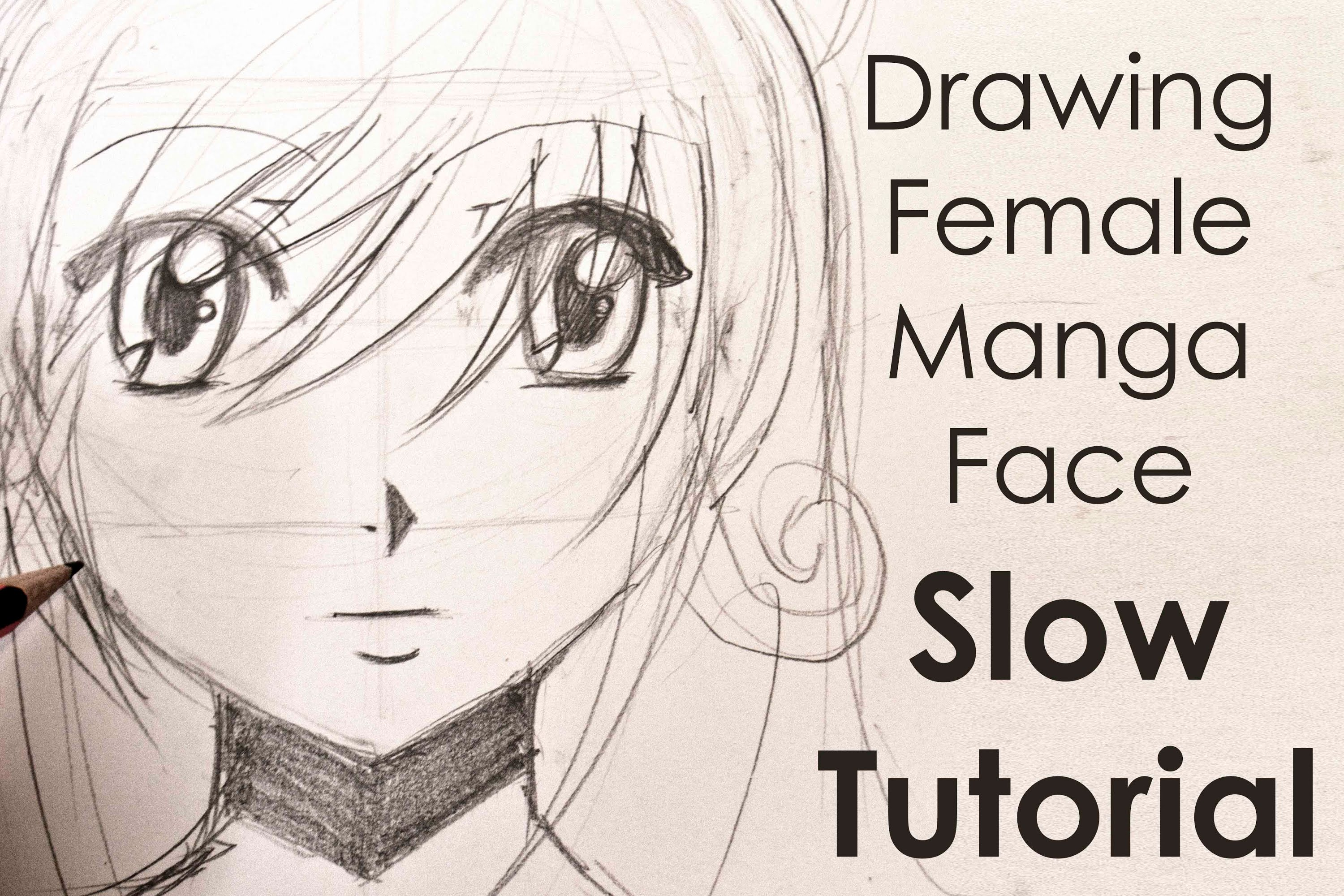 3000x2000 Drawing Easy Manga Girl Face Slow Tutorial