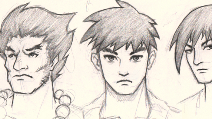700x393 How To Draw Manga, 3 Different Faces Guys