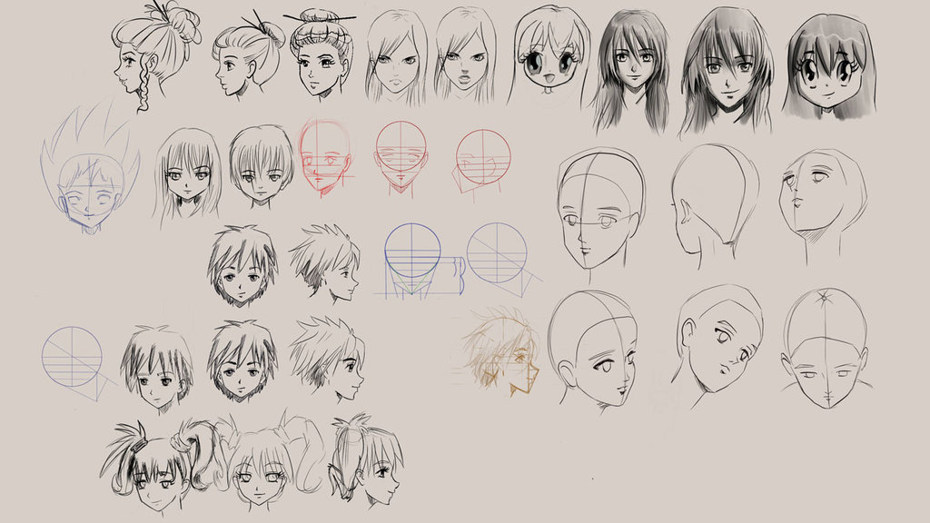 1024x576 How To Draw Manga Faces And Hair By Discipleneil777