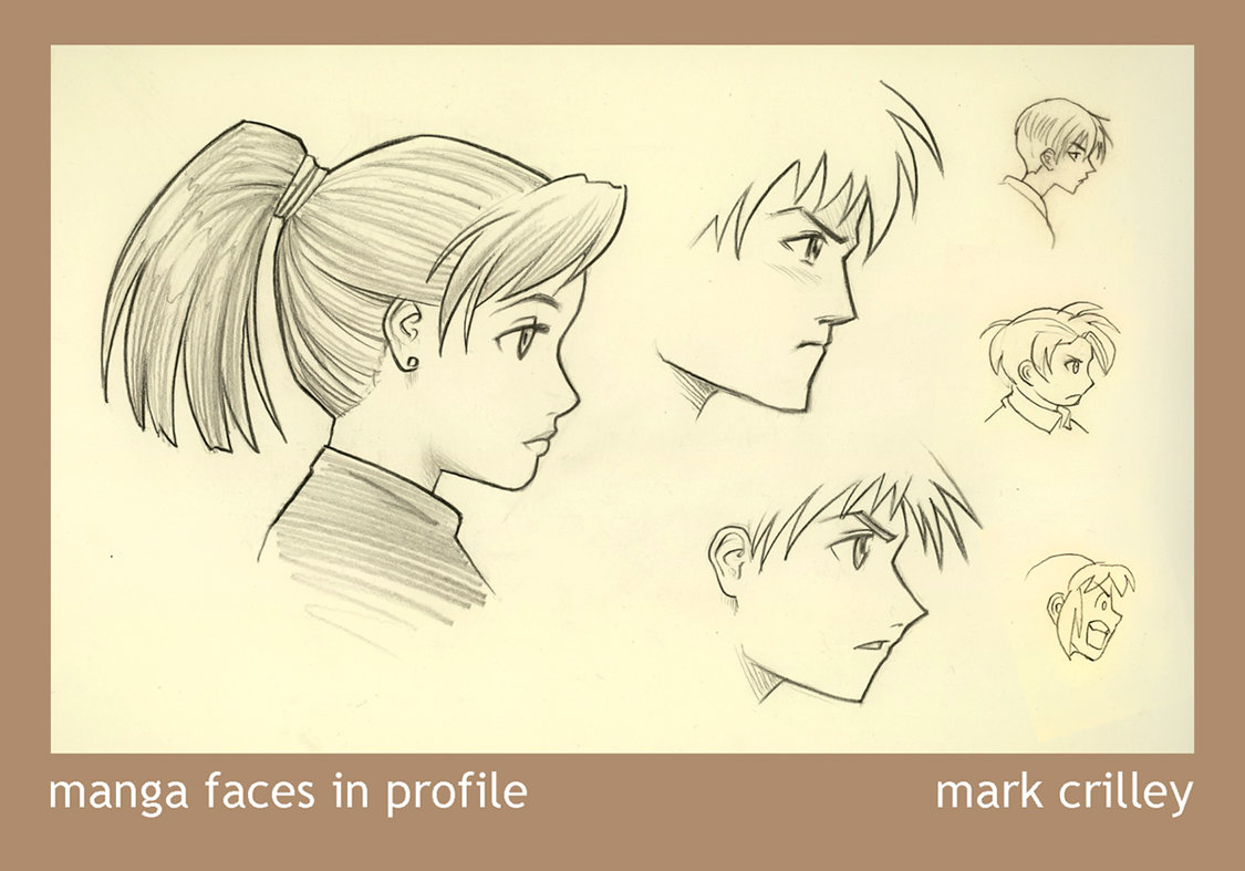 1125x787 Manga Faces In Profile By Markcrilley