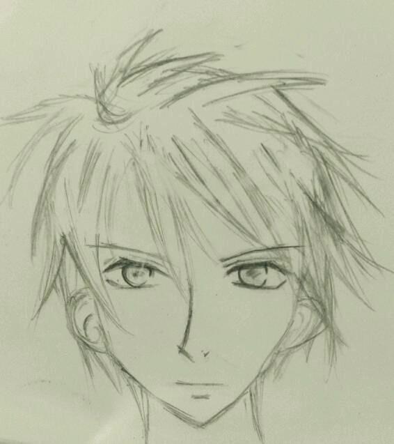 566x637 Random Manga Drawing ~ Face Of A Guy By Muartgl
