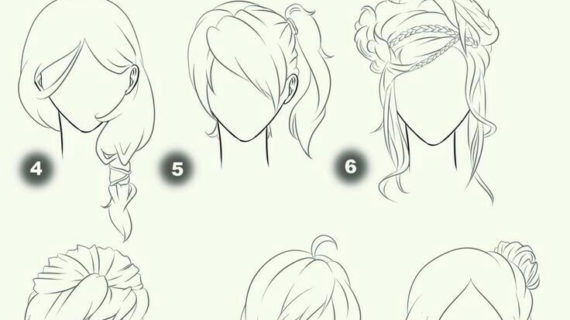570x320 Anime Girl Hair Drawing Best Ideas About Anime Hairstyles