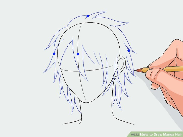 728x546 How To Draw Manga Hair 7 Steps (With Pictures)