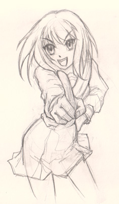 235x400 How To Draw Anime Girl Foreshortening And Hand