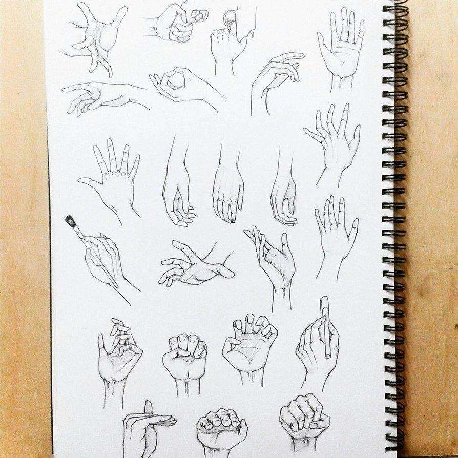 894x894 Manga Hand Study By Imaan8298