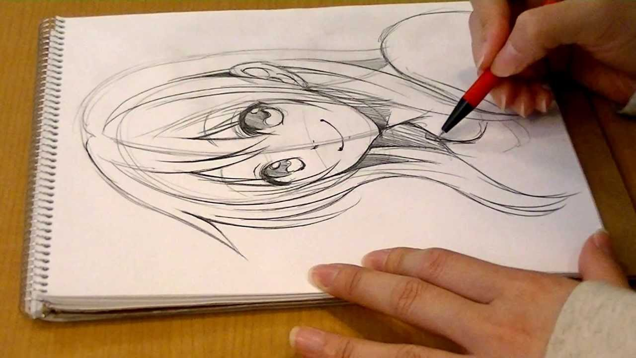 1280x720 Morita's Manga Come Back!.drawing Girl's Face By Pencil 01