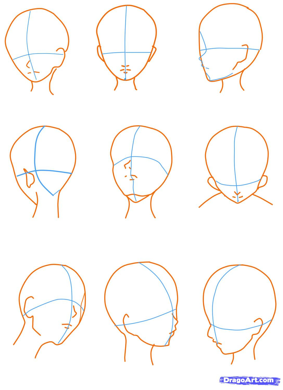 1087x1500 Anime Head Drawing Drawing Anime And Manga Online Drawing