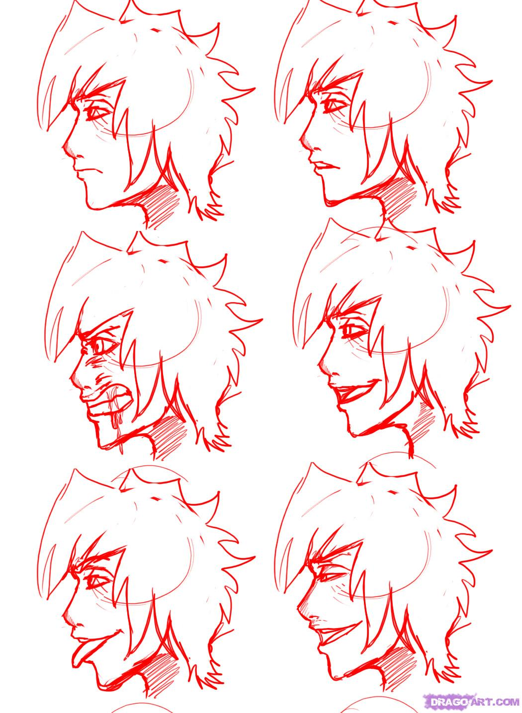 1050x1435 How To Draw Profile Faces And Mouths Side View, Step By Step