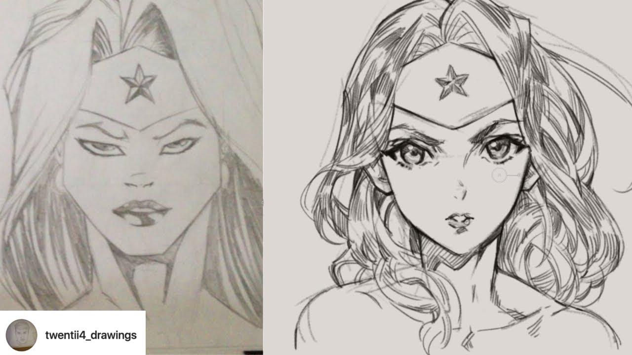 1280x720 Redraw Fanart Using Manga Style Art By Twentii4 Drawings