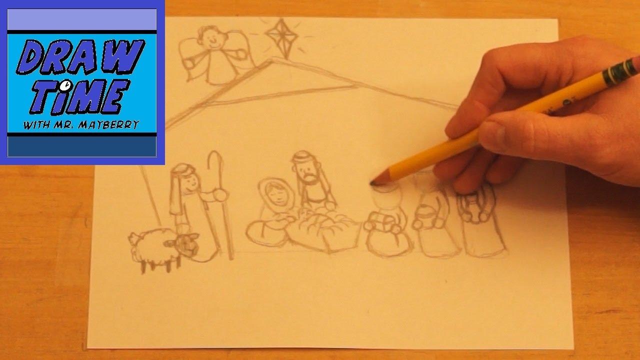 1280x720 How To Draw A Nativity Scene