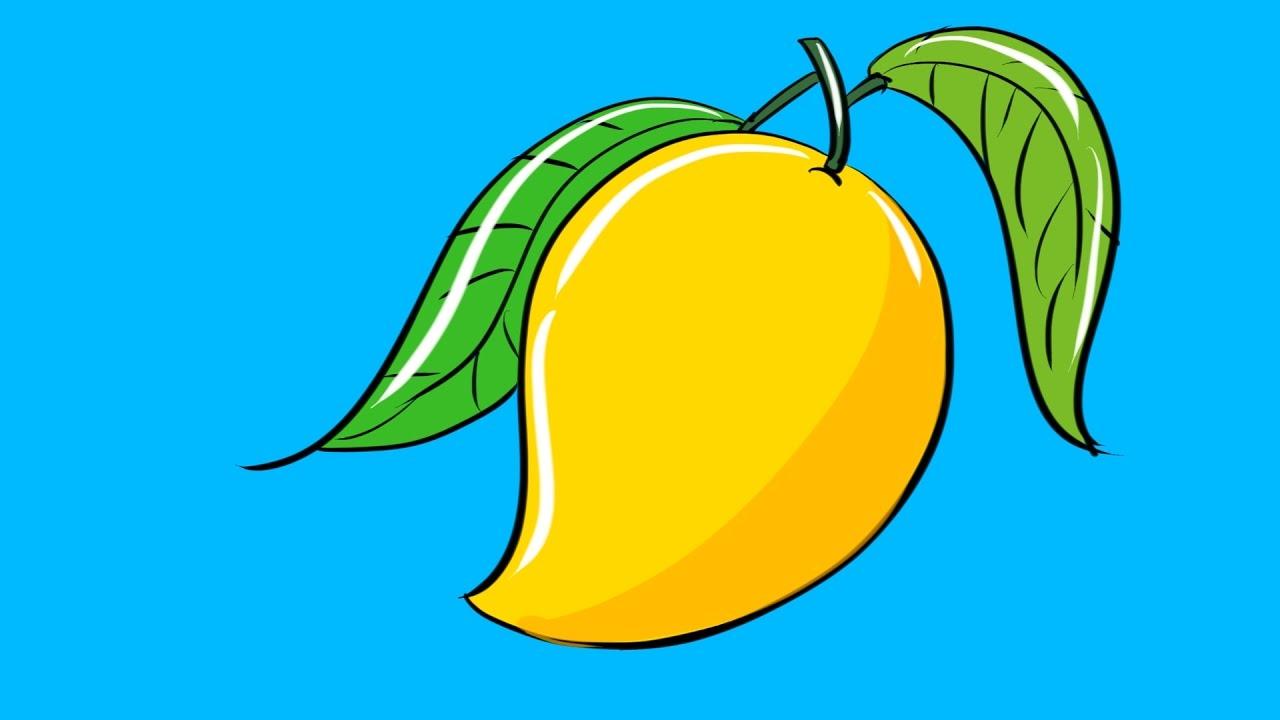 1280x720 How To Draw Mango Comment Dessiner La Mangue Drawing