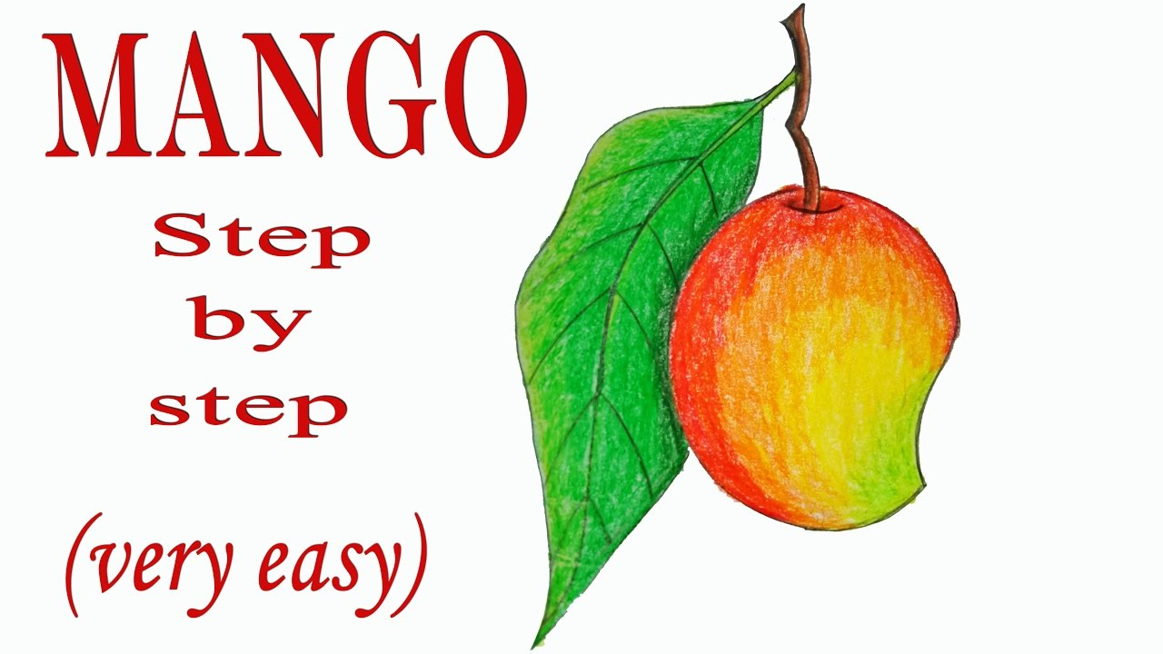 1280x720 How To Draw A Mango Step By Step ( Very Easy)