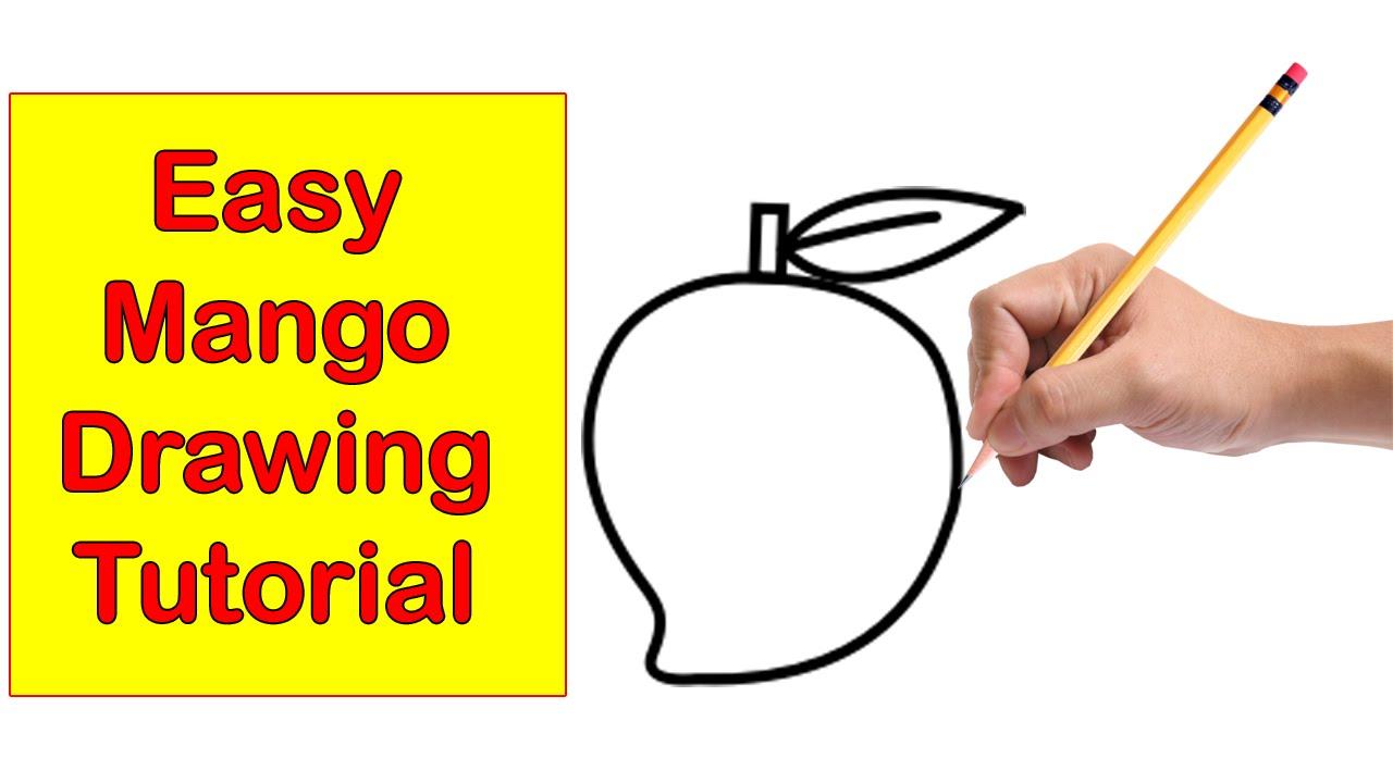1280x720 To Draw A Mango Step By Step