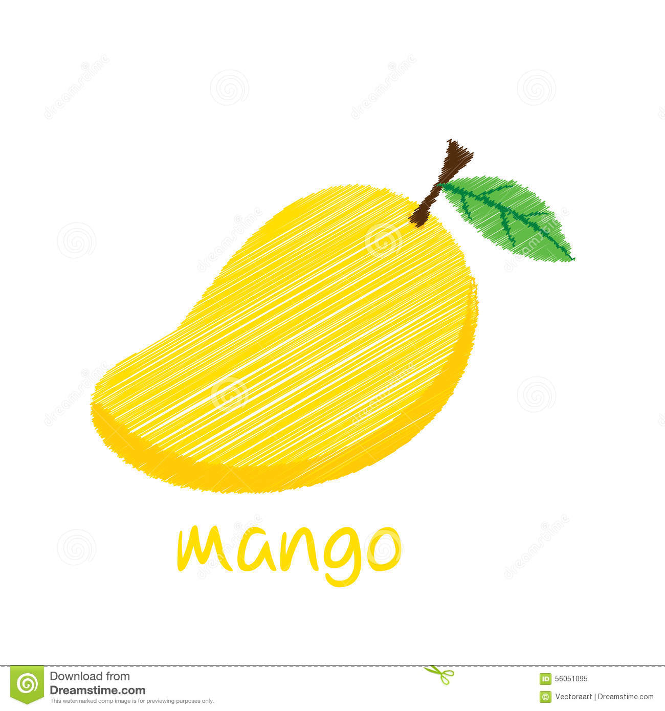1300x1390 Design Fruit Drawings With Pencil Mango Fruit, Sketch Design Stock