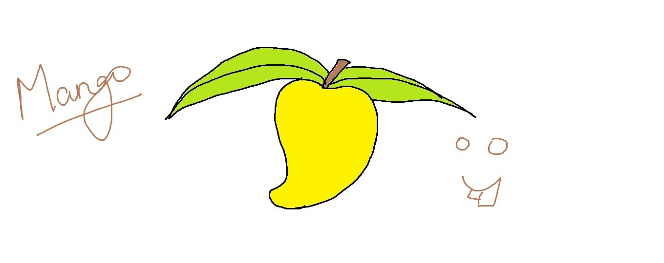 1359x540 Easy Kids Drawing Lessons How To Draw A Mango Easy For Kids