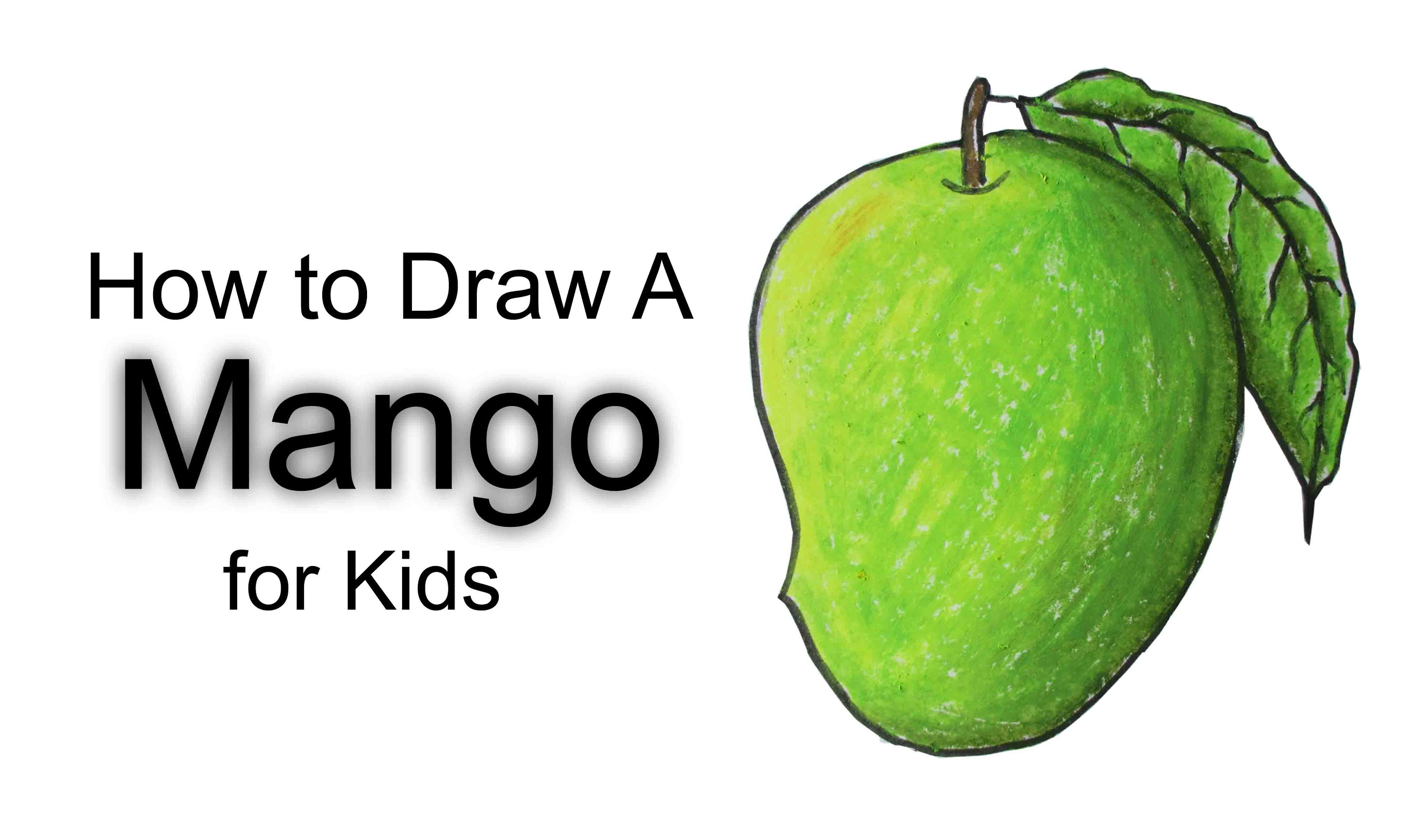 3000x1800 How To Draw A Mango For Kids