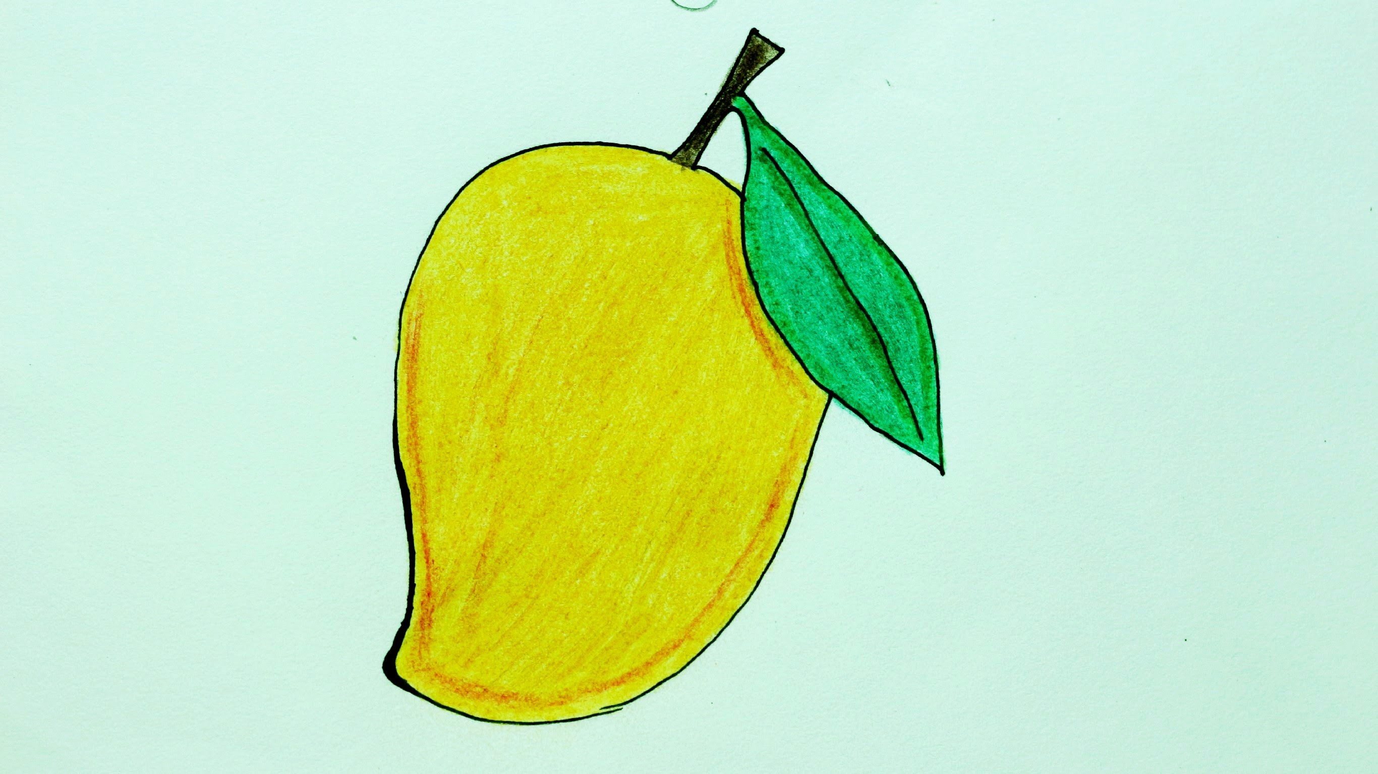 2732x1534 Pencil Sketch Of Mango How To Draw A Mango Real Easy