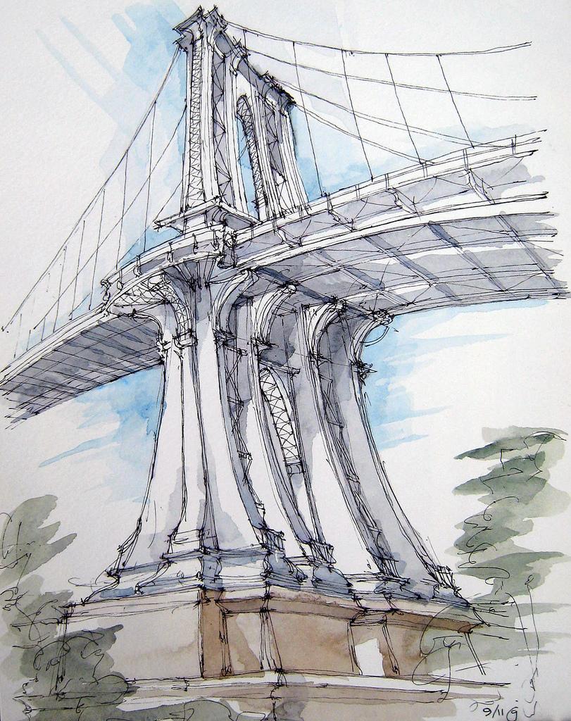 811x1024 Manhattan Bridge From Brooklyn Bridge Park, The Brooklyn