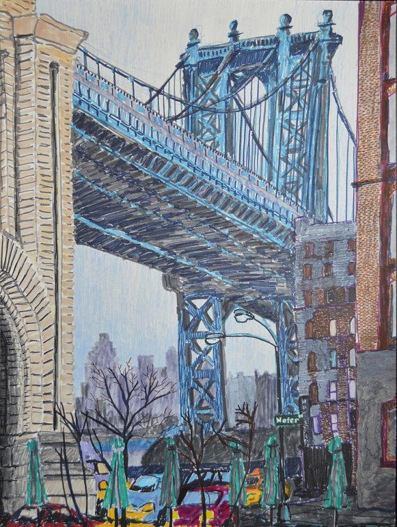 570x756 Manhattan Bridge Dumbo Nyc Brooklyn Bridge New York