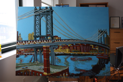 499x333 Painting Process Manhattan Bridge @fplusp @madebymir Borbay