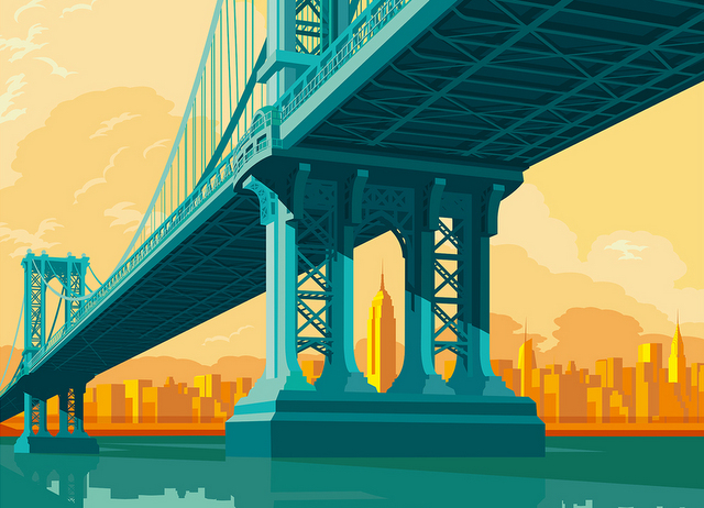 640x462 See The City Artist Remko Heemskerk Captures Nyc Architecture
