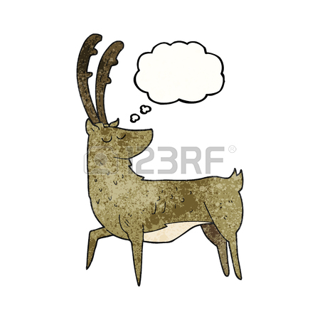 450x450 Freehand Drawn Speech Bubble Cartoon Manly Stag Royalty Free