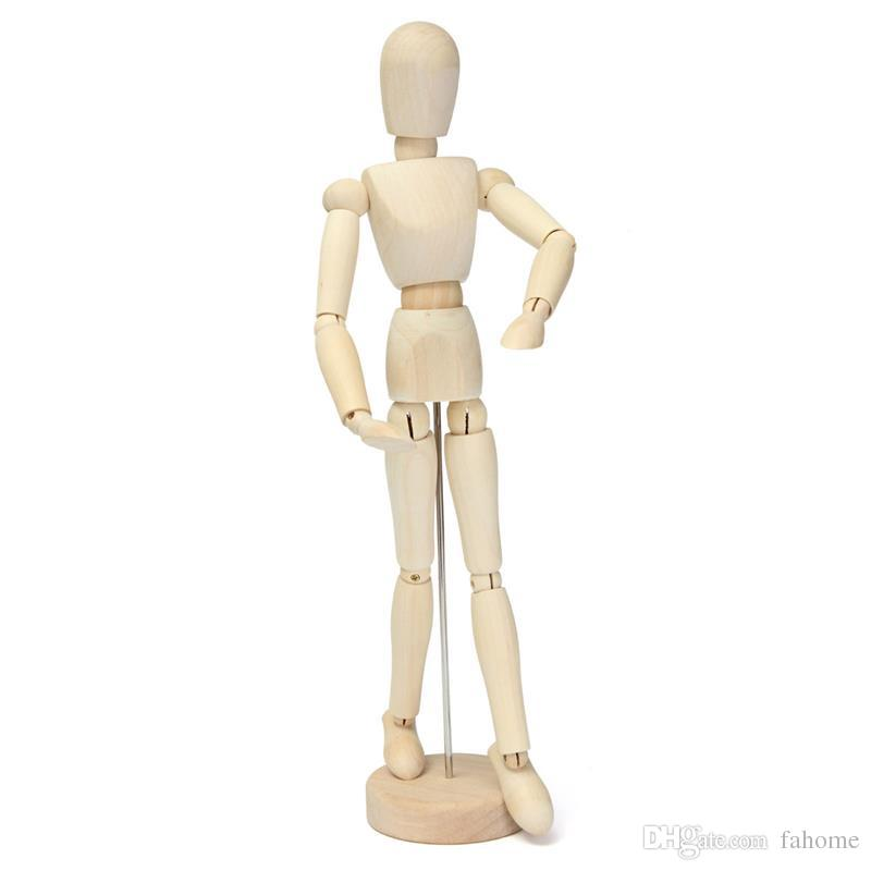 800x800 30cm 12 Drawing Model Wooden Human Manikin Jointed Limbs Mannequin