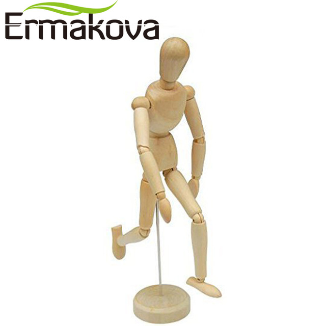 640x640 Ermakova 8 Inches Tall Wooden Human Mannequin Movable Limbs Human