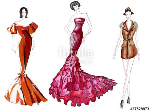 500x370 Fashion Sketch Stock Photo And Royalty Free Images
