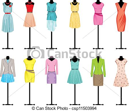 450x386 Mannequins With Women's Clothing. Image Of Mannequins With Eps