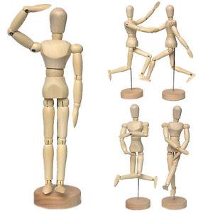 300x300 4.5 5.5 8 Wooden Human Figure Manikin Artist Draw Painting