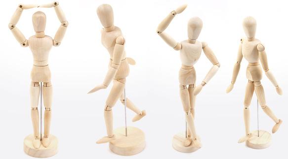 583x323 Wooden Doll Drawing Male Manikin Dollfie Mannequin Toy Bjd Art