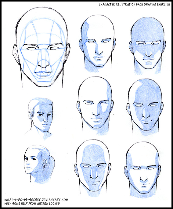 567x686 Face Shading, Basic Planes By What I Do Is Secret