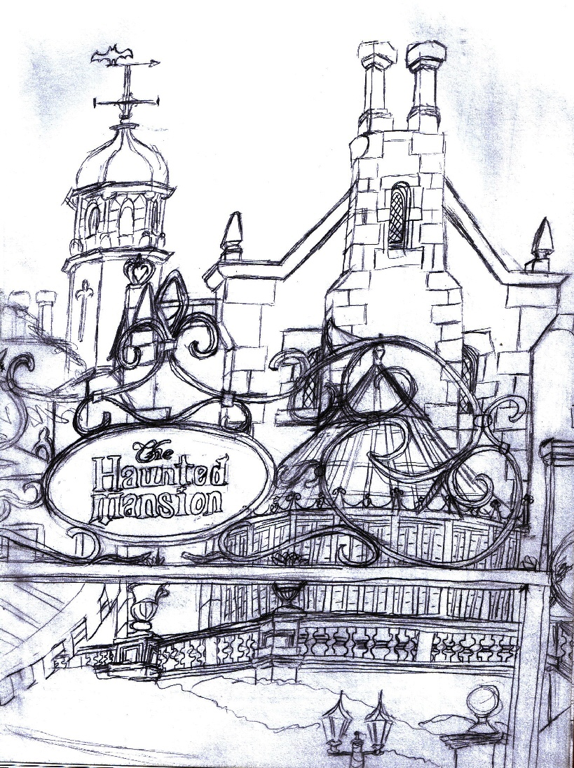819x1095 Haunted Mansion Sketch By Neosun7