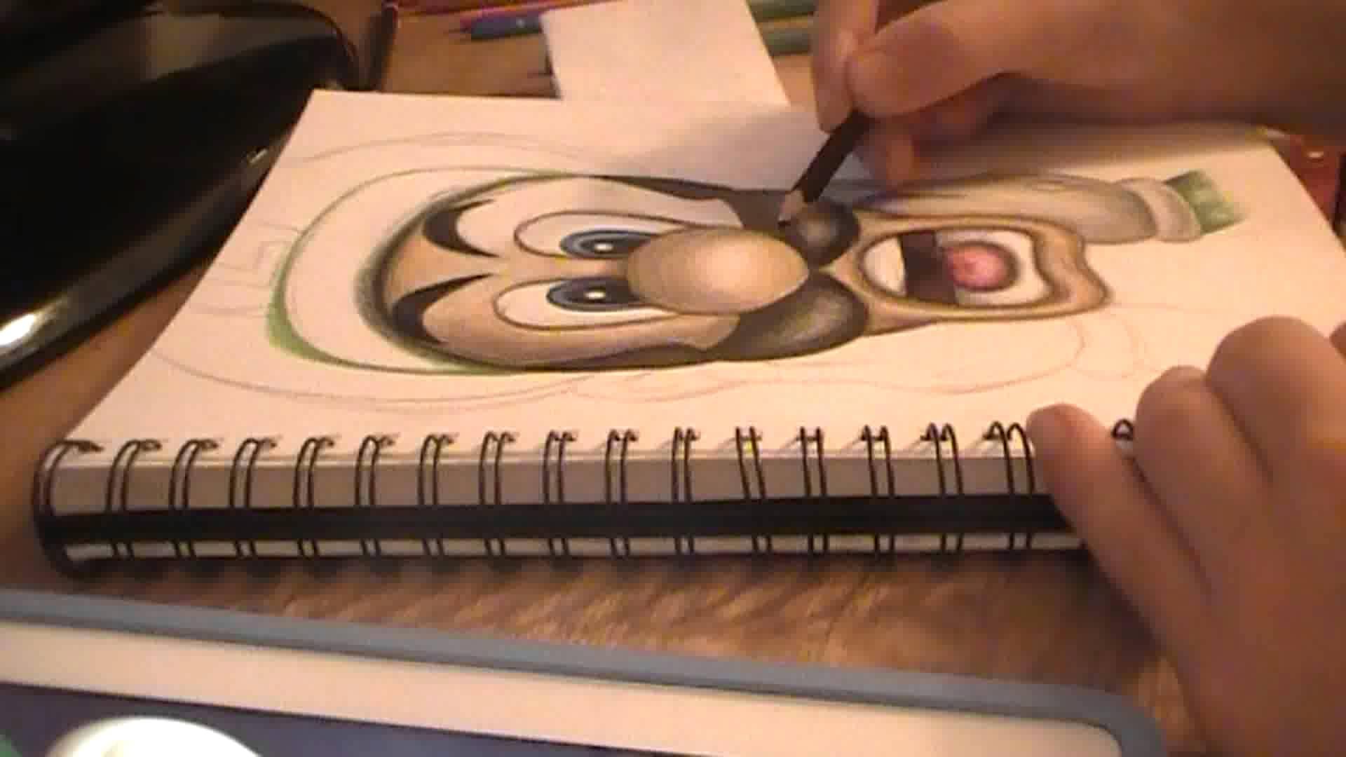 1920x1080 Luigi's Mansion Speed Drawing