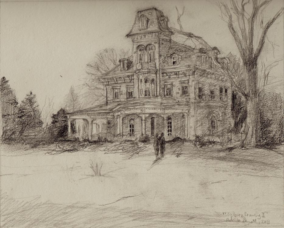 933x750 Patricia Bennett Fine Art Painter Cylburn Mansion Drawing