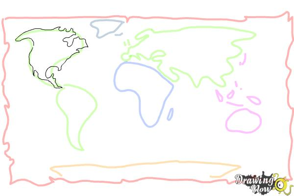 600x400 How To Draw A World Map