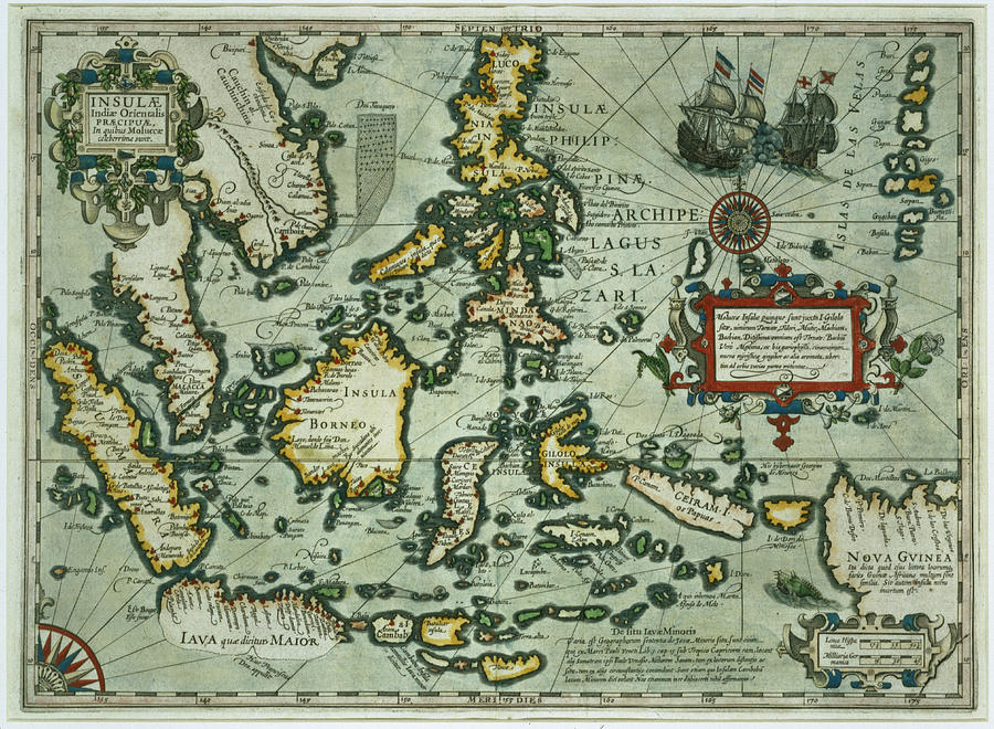900x660 Map Of The East Indies Drawing By Dutch School