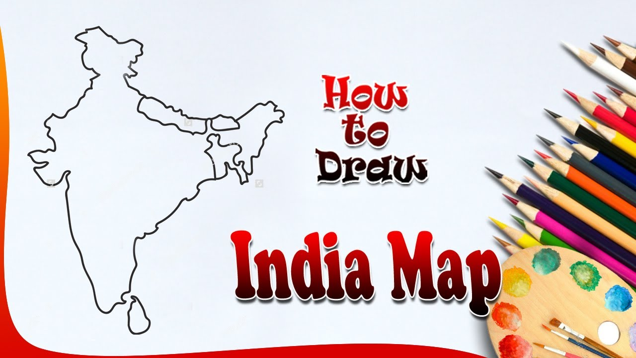 1280x720 How To Draw India Map