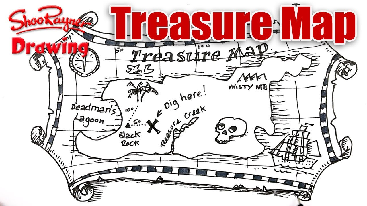 1280x720 How To Draw A Treasure Map