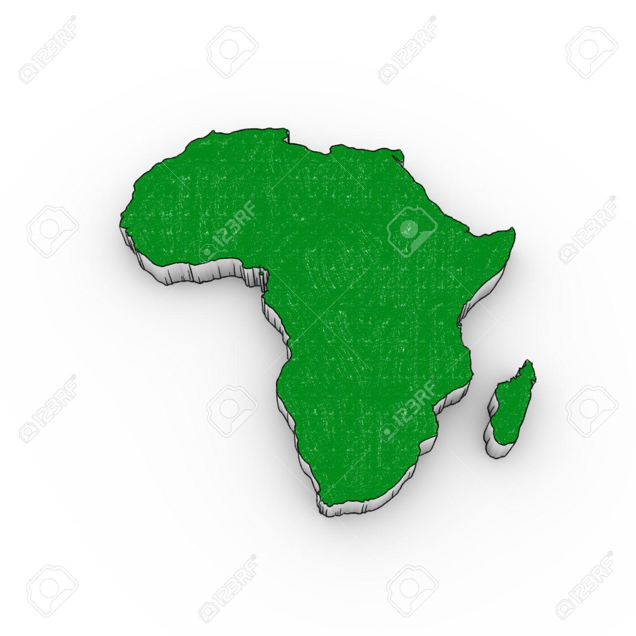 1299x1300 Africa Map 3d