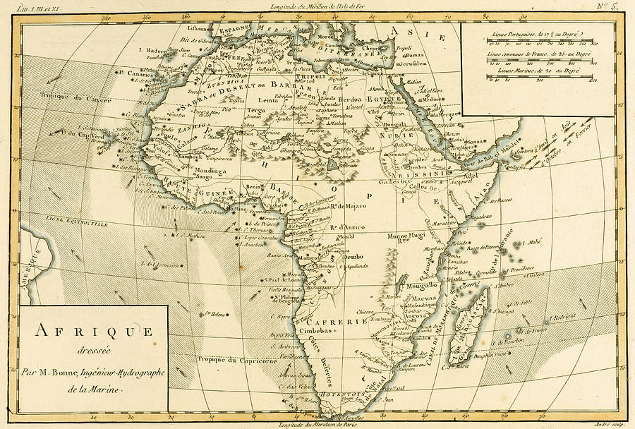 900x608 Map Of Africa Drawing By Guillaume Raynal