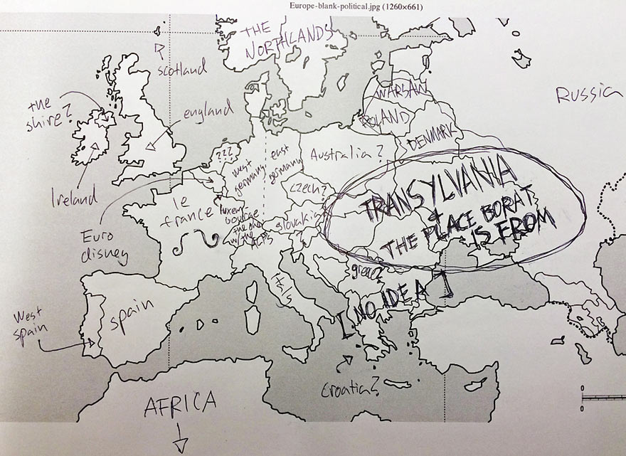 880x641 Americans Were Asked To Place European Countries On A Map. Here'S