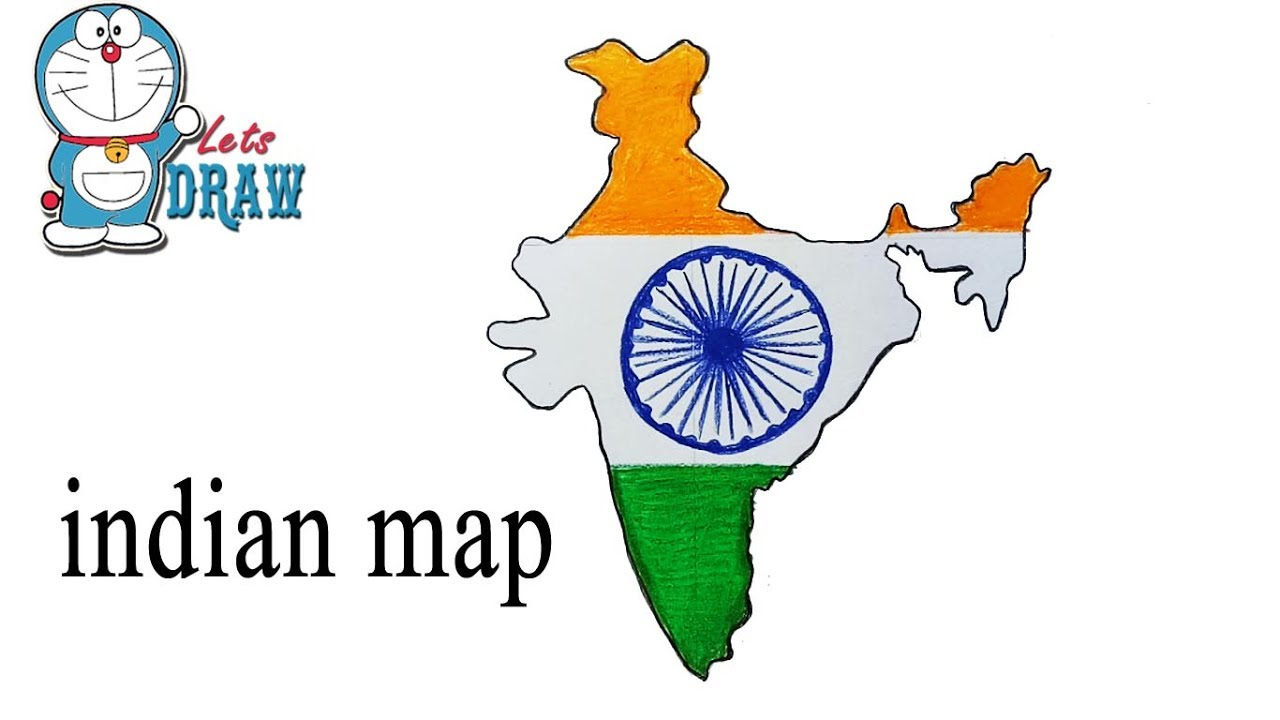1280x720 How To Draw Indian Map Step By Step ( Very Easy )