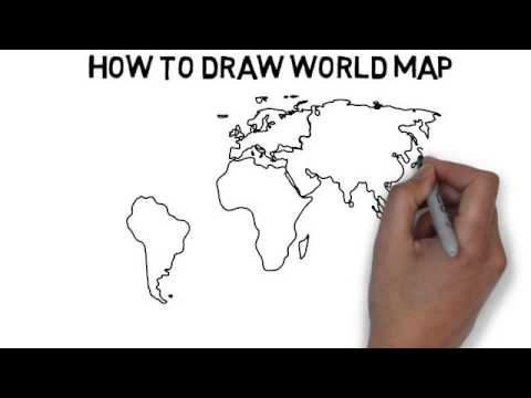 Map of the world drawing at getdrawings free for personal use 480x360 how to draw world map gumiabroncs Image collections